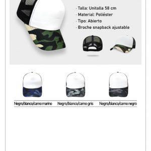 Gorra ideal para sublimado